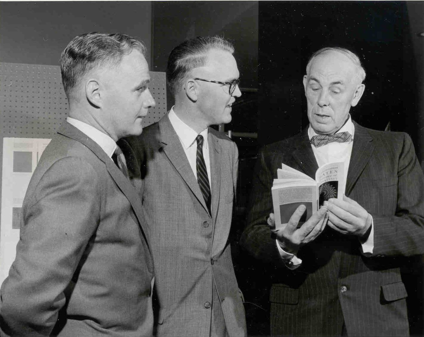 Launching of the Carleton Library Series; Dr. McDougall; Professor Farr; Professor Eggleston, May 26, 1963.