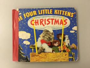 Four Little Kittens' Christmas book cover.