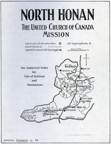 Map of North Honan Mission.