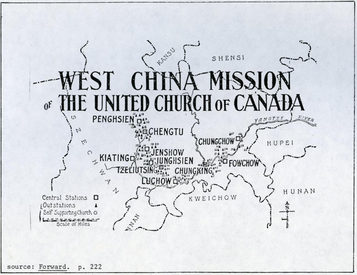 Map of West China Mission.