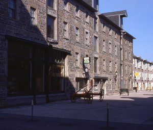 Photograph of a historic stone building at the Halifax waterfront
