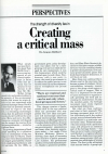 Creating a critical mass article