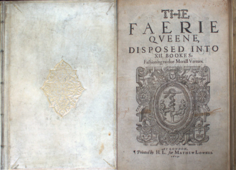 Cover and title page of The Faerie Queene