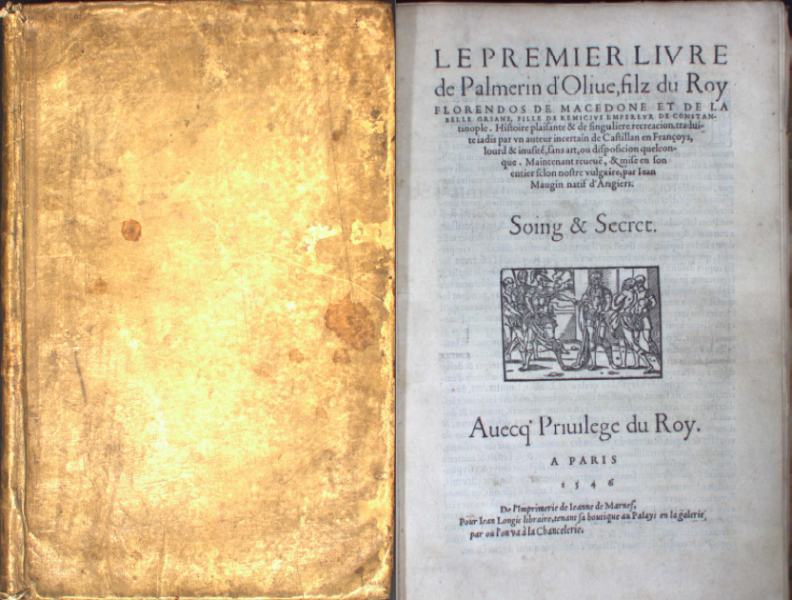 Exterior and cover of Palmerin d'Olive