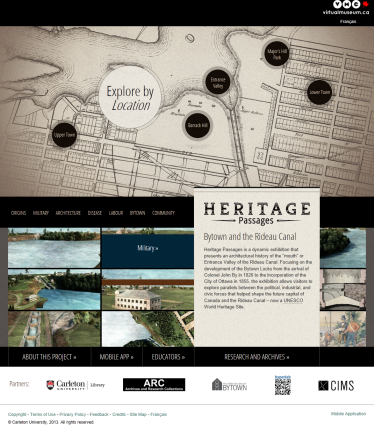 Screenshot of the Heritage Passages website