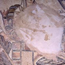 Detail of mosaic from excavation at Paphos