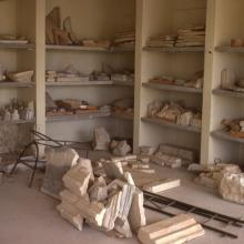 Stored artefacts from French excavation at Salamis