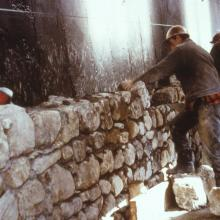 Restoration work at the Fortress of Louisbourg