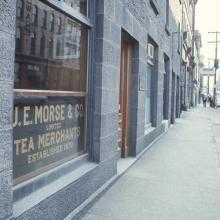 Morse's Teas storefront at Halifax Waterfront