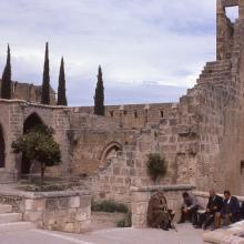 Exterior of Bellapais Abbey, Northern Cyprus