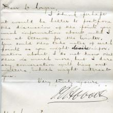 Letter from John Abbott