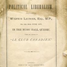 Laurier Lecture on Liberalism, cover