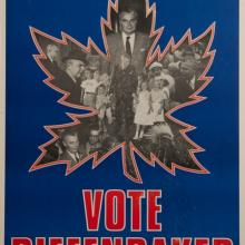 Vote Diefenbaker Election Poster