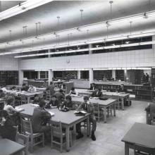 Students at the Carleton Library, 1958