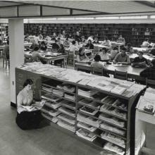 Carleton College Library reference area, 1958