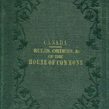 Cover of Rules, Orders & Forms of Proceeding of the House of Commons